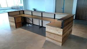 Reception Desk Wood Wooden Reception Desk Awesome Reclaimed Wood Reception Desk