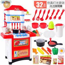 cuisine enfant jouet jouer cuisine ensemble abs 32 pcs en plastique enfant alimentaire