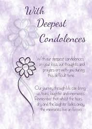 with deepest condolences lilac sketched flowers with sentiment
