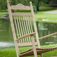 Unfinished Wood Rocking Chair Spindle Back Rocking Chairs Red Black White Green Oak