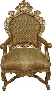 Throne Style Chair Magnificent Baroque Throne Chair With Golden Or Silver Frame And