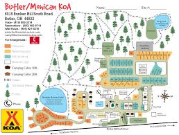 Mohican State Park Map by Campsite Reviews U2013 Juliancampingfun