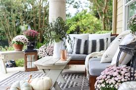 porch decorating ideas neutral fall porch decorating ideas and tour maison de pax