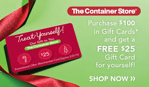 gift card specials the container store s gift card promotion arizona