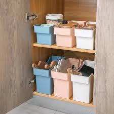 kitchen cabinet storage containers us 7 36 36 kitchen cabinet storage containers plastic box basket spice organizer desketop tableware storage box refrigerator