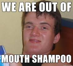 Teeth Meme - how are we supposed to shower our teeth meme guy