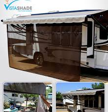 Awning For Travel Trailer Vista Shade For Electric Rv Awnings Easy To Set Up And Use