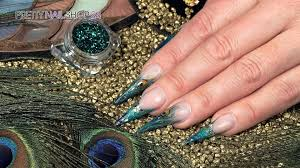 trendstyle nailart peacock youtube