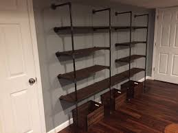furniture perfect way to store and display your preserves with industrial pipe shelves homemade floating shelves homemade shelves