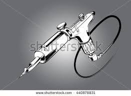 tattoo gun sketch hand draw rotary tattoo machine colored stock photo photo vector