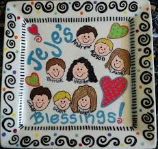 painted platters personalized painted family plate personalized painted family