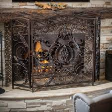 fireplace screens on hayneedle decorative fireplace screens covers