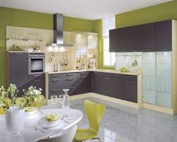 colorful kitchen design ideas with grey cabinet and yellow chairs