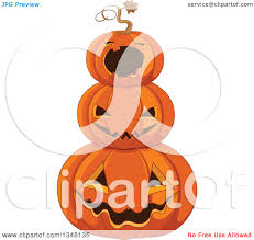 clipart group of halloween trick or treating kids and a dog