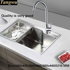 High Quality Kitchen Sinks Tangwu Small Kitchen Sink Of High Quality Stainless Steel Single