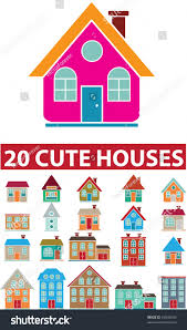 Cute House by 20 Cute Houses Vector Stock Vector 45049240 Shutterstock