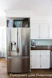covering a refrigerator with wood standard cabinet size
