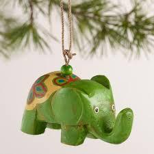 wooden elephant ornaments set of 3 world market