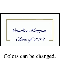 graduation name cards class of 2018 or class of 2019 and photo namecards
