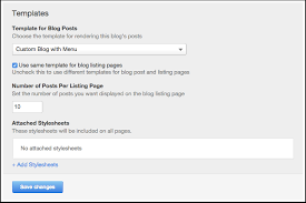how to configure your blog u0027s template options