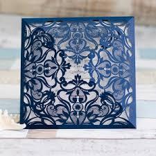 laser cut wedding programs graceful ivory shimmery laser cut wedding invitations ewws023 as