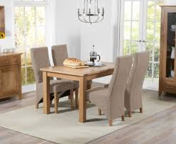 Oak Fabric Dining Chairs Buy The Cheadle 120cm Oak Extending Dining Table With Henley