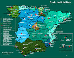 Spain Regions Map by Courts And Cases Spain Lexadin