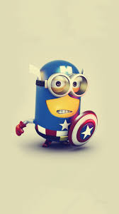 halloween animated clipart 2014 cute halloween american captain minion iphone 6 wallpaper