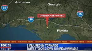 Map Of Florida Panhandle by Tornado Touchdown In The Florida Panhandle Orlando Sentinel
