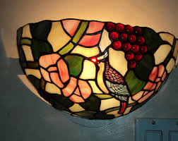 Stained Glass Wall Sconce Stained Glass Sconce Etsy