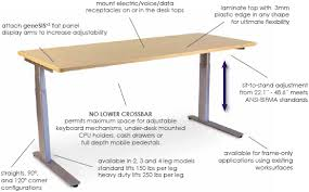 height adjustable desk legs sis s3024 or s3030 surf2 electric 2 leg rectilinear height