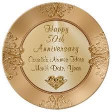 anniversary plates 50th anniversary golden anniversary plates zazzle