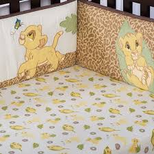 lion king crib bumper 4 piece disney baby