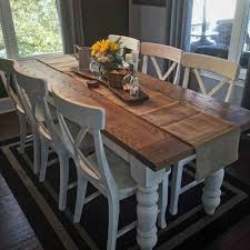 farmhouse kitchen furniture awesome salle à manger cool custom white oak farmhouse table by