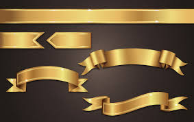 gold ribbons get gilded with this gold ribbon banner vector tutorial vectips