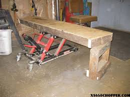motorcycle lift table plans wood working projects motorcycle work table plans
