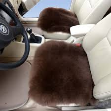 buy white color sheepskin car front driver seat cover car cushion