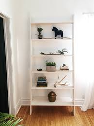 make your own ladder shelf the row house nest