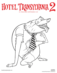 hotel transylvania colouring pages coloring eson