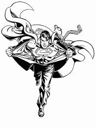 return superman coloring silhouette