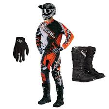 oneal motocross boots oneal 2016 element shocker jersey pants gloves rider boots package