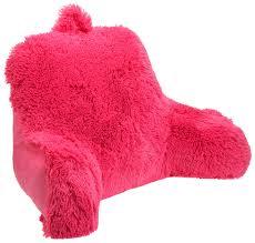 husband bed rest pillow amazon com brentwood shagalicious bedrest hot pink home kitchen