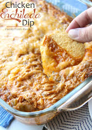 dips cuisine cheesy chicken enchilada dip family fresh meals