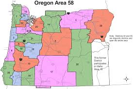 Map Of Southern Oregon by Aa Meetings In Oregon