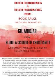 Ucsc Map Book Talks U2013 Gil Anidjar U201cblood A Critique Of Christianity