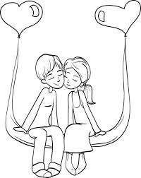 free printable valentine u0027s couple coloring kids 4