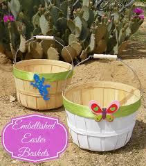 personalized wicker easter baskets easy embellished easter baskets affordable and personalized