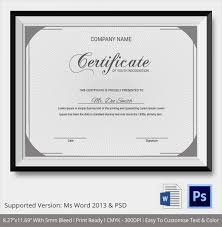 sle certificate of recognition template certificate of recognition template word 28 images free