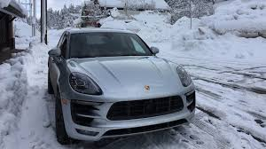 porsche macan the porsche macan proves to be a sure footed beast in the snow