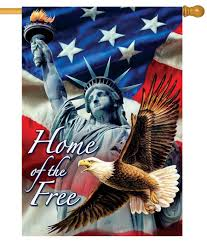 American House Flag Statue Of Liberty Home Of The Free House Flag House Flags Flags